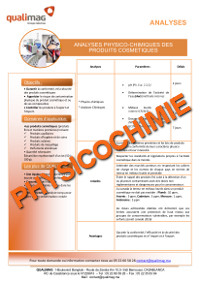 Document analyses physicochimiques